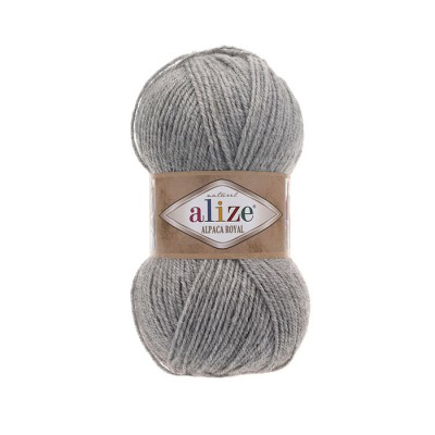 ALIZE ALPACA ROYAL - 21 GRAY MELANGE