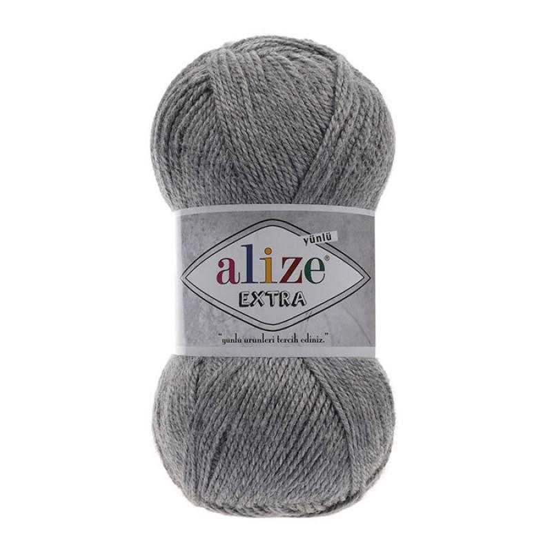 ALIZE EXTRA - 21 GRAY MELANGE