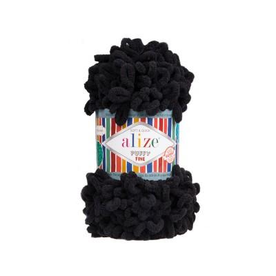 ALIZE PUFFY FINE - 60 BLACK