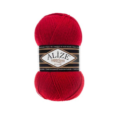 ALIZE SUPERLANA KLASIK - 56 RED