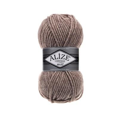 ALIZE SUPERLANA MAXI - 207 LIGHT COFFE MELANGE