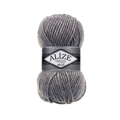 ALIZE SUPERLANA MAXI - 21 GRAY MELANGE