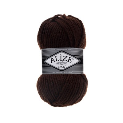 ALIZE SUPERLANA MAXI - 26 BROWN