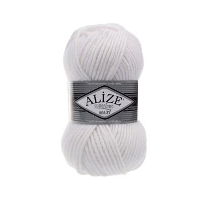 ALIZE SUPERLANA MAXI - 55 WHITE