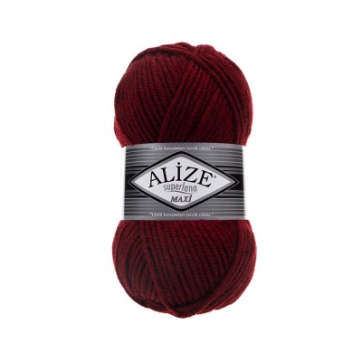 ALIZE SUPERLANA MAXI - 57 BORDEAUX