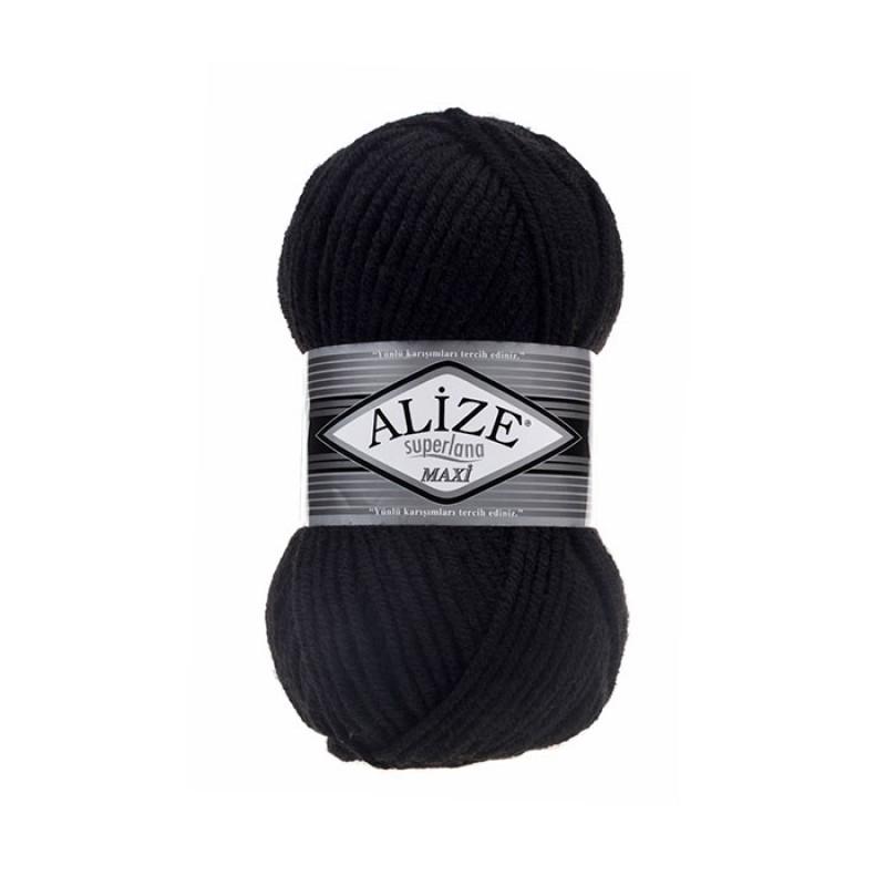 ALIZE SUPERLANA MAXI - 60 BLACK