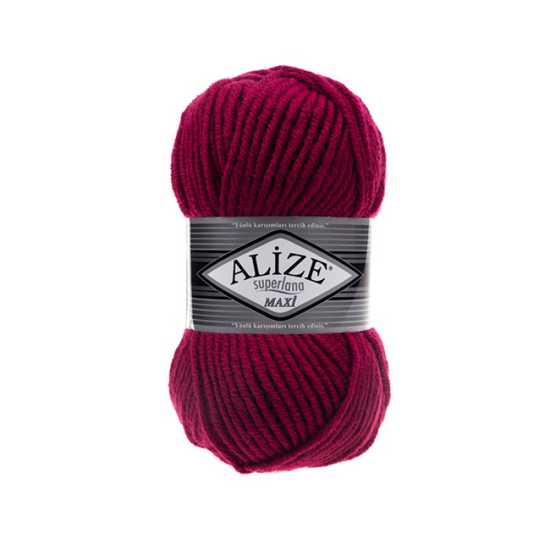 ALIZE SUPERLANA MAXI - 649 RUBY