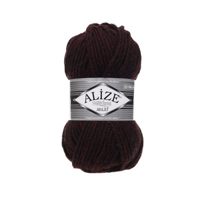 ALIZE SUPERLANA MAXI - 811 JASPE BORDEAUX