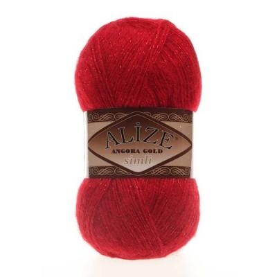 ALIZE ANGORA GOLD SIMLI - 106 RED