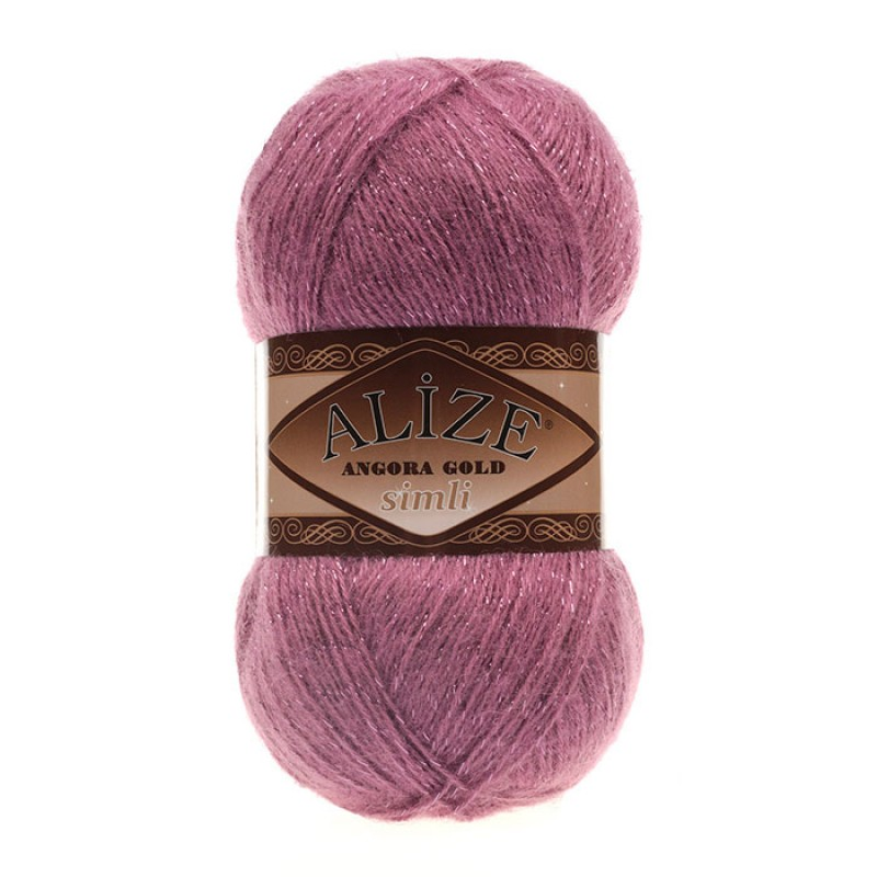 ALIZE ANGORA GOLD SIMLI - 28 DRIED ROSE