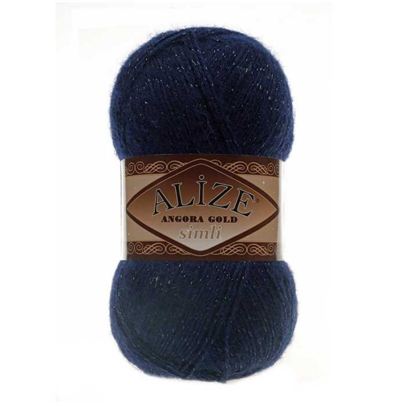 ALIZE ANGORA GOLD SIMLI - 58 NAVY BLUE