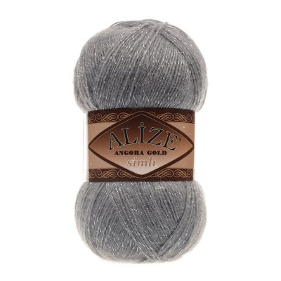 ALIZE ANGORA GOLD SIMLI - 87 COAL GRAY