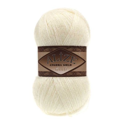 ALIZE ANGORA GOLD SIMLI - 62 LIGHT CREAM