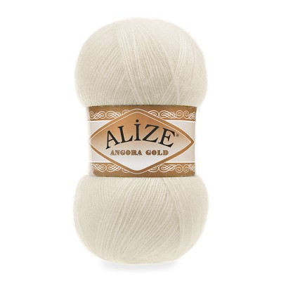 ALIZE ANGORA GOLD - 01 CREAM