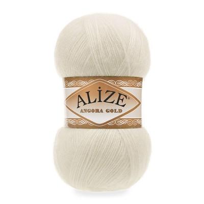 ALIZE ANGORA GOLD - 01 CREAM