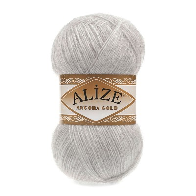 ALIZE ANGORA GOLD - 208 LIGHT GREY MELANGE