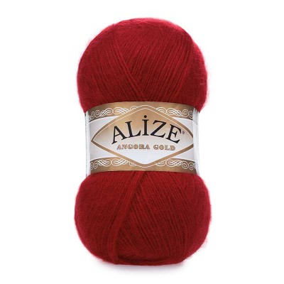 ALIZE ANGORA GOLD - 339 DARK RED