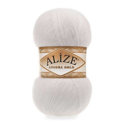 ALIZE ANGORA GOLD - 55 WHITE