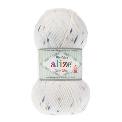 ALIZE BABY BEST MINI COLORS - 6842 WHITE