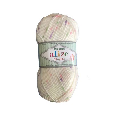 ALIZE BABY BEST MINI COLORS - 6930 CREAM