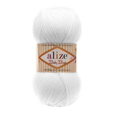 ALIZE BABY BEST - 55 WHITE