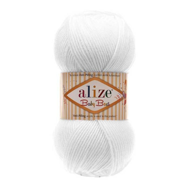 ALIZE BABY BEST - 55 WHITE