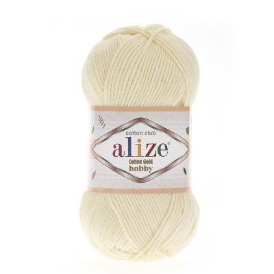 ALIZE COTTON GOLD ΗΟΒΒΥ - 01 CREAM