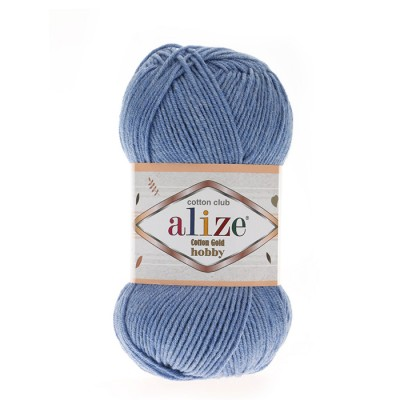 ALIZE COTTON GOLD ΗΟΒΒΥ - 374 BLUE MELANGE