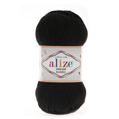 ALIZE COTTON GOLD ΗΟΒΒΥ - 60 BLACK
