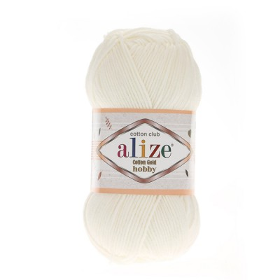 ALIZE COTTON GOLD ΗΟΒΒΥ - 62 LIGHT CREAM