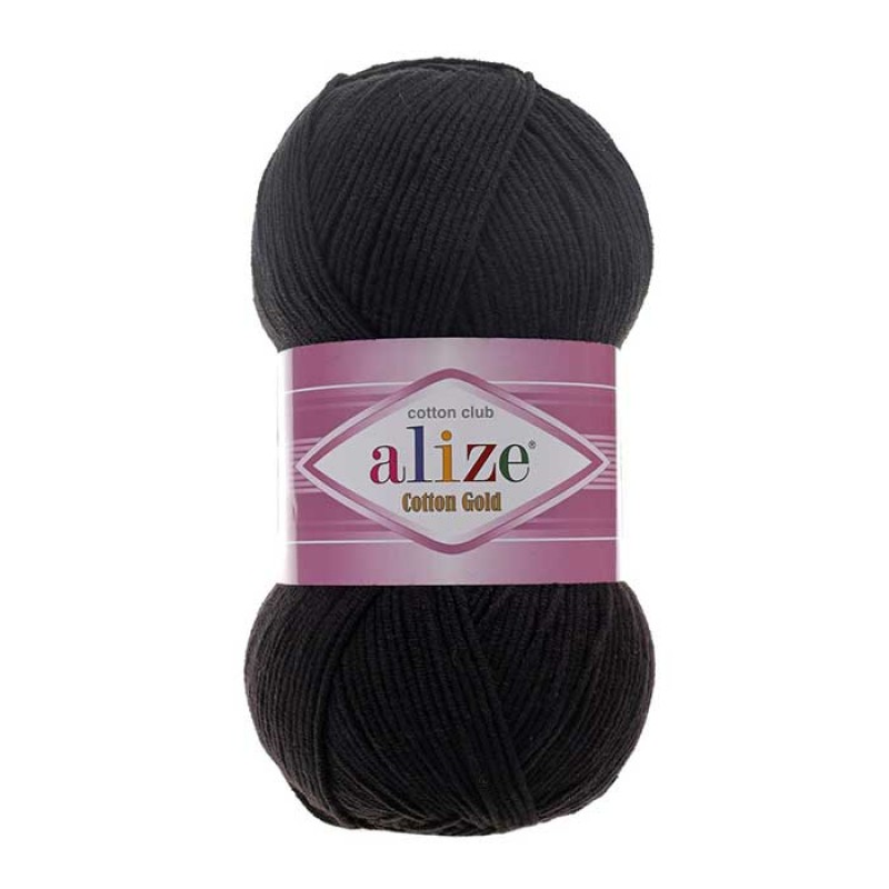 ALIZE COTTON GOLD - 60 BLACK