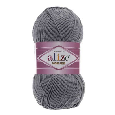 ALIZE COTTON GOLD - 87 COAL GRAY
