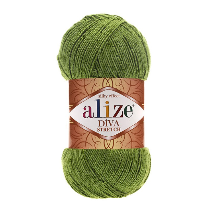 ALIZE DIVA STRETCH - 210 GREEN