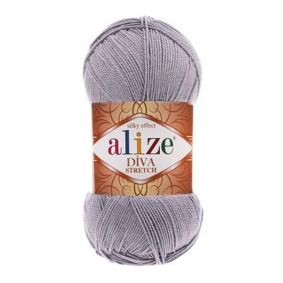ALIZE DIVA STRETCH - 253 SILVER