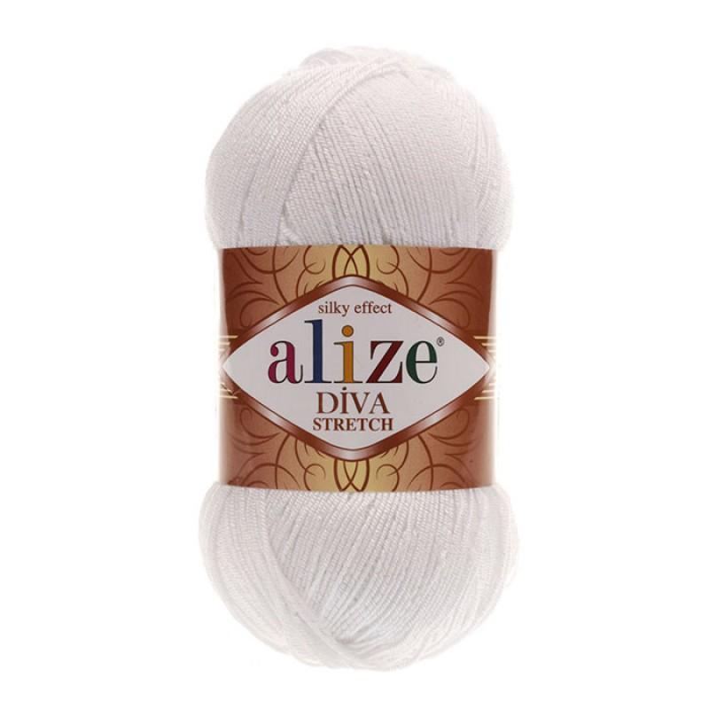 ALIZE DIVA STRETCH - 55 WHITE