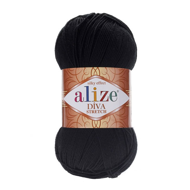 ALIZE DIVA STRETCH - 60 BLACK