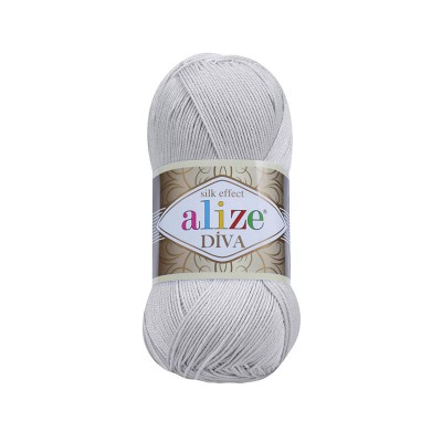 ALIZE DIVA - 168 LIGHT GRAY