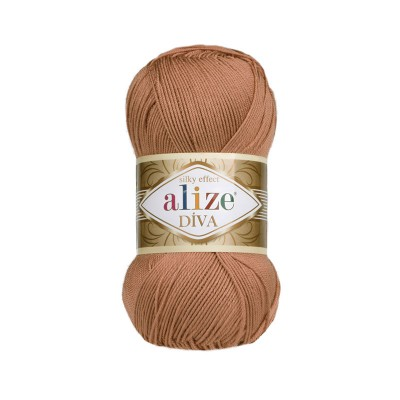 ALIZE DIVA - 261 RED BROWN