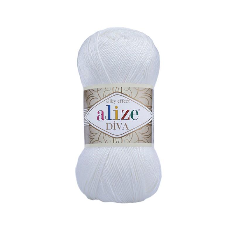 ALIZE DIVA - 55 WHITE