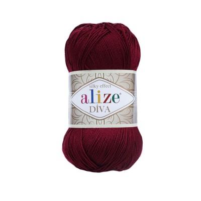 ALIZE DIVA - 57 CLARET RED