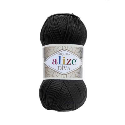 ALIZE DIVA - 60 BLACK