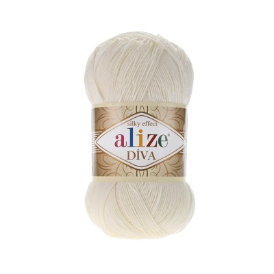 ALIZE DIVA - 62 LIGHT CREAM