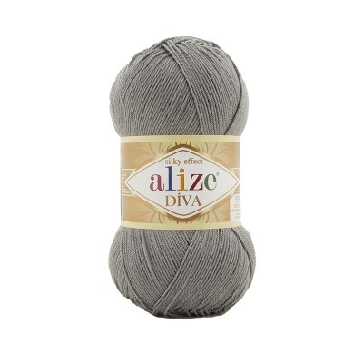 ALIZE DIVA - 87 COAL GRAY