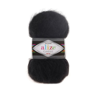 ALIZE MOHAIR CLASSIC - 60 BLACK