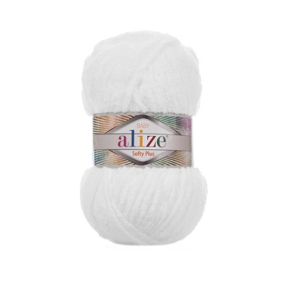 ALIZE SOFTY PLUS - 55 WHITE