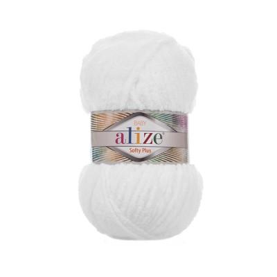 ALIZE SOFTY PLUS - 55 WHITE