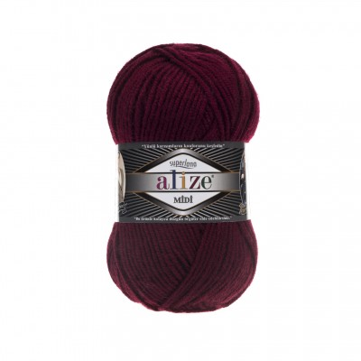 ALIZE SUPERLANA MIDI - 57 CLARET RED
