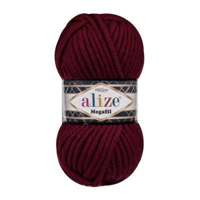 ALIZE SUPERLANA MEGAFIL - 57 BORDEAUX