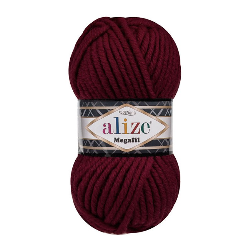 ALIZE SUPERLANA MEGAFIL - 57 CLARET RED
