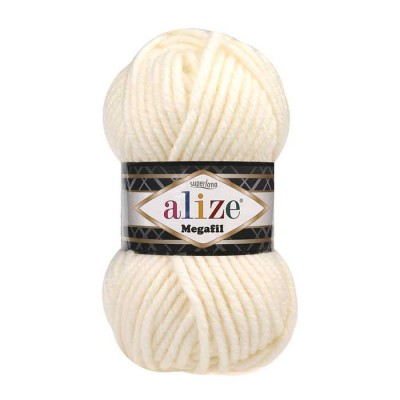 ALIZE SUPERLANA MEGAFIL - 62 LIGHT CREAM